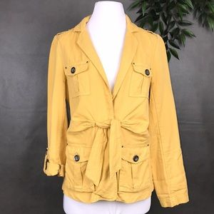 Cartonnier Yellow Nepal Safari Linen Jacket Size 6